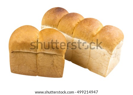 Bengali loaf bread on isolated background