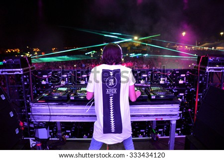 BENICASSIM, SPAIN - JULY 20: Alesso (Swedish DJ and electronic dance music producer) performs at FIB Festival on July 20, 2014 in Benicassim, Spain.