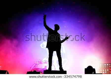 BENICASSIM, SPAIN - JULY 17: Chase & Status (British electronic music production duo band) in concert at FIB Festival on July 17, 2014 in Benicassim, Spain.