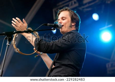 BENICASSIM, SPAIN - JULY 19: Skizophonic (band) performs at FIB Festival on July 19, 2014 in Benicassim, Spain.