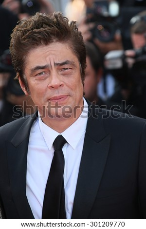 Benicio Del Toro  attends the 'Sicario' premiere during the 68th annual Cannes Film Festival on May 19, 2015 in Cannes, France.