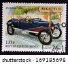 BENIN - CIRCA 1998: stamp printed in Benin shows retro car, bugatti, 1910, circa 1998.  - stock
