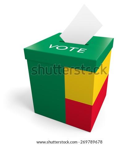 Benin election ballot box for collecting votes - stock photo