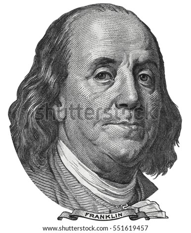 100 dollar bill stock images royalty free images vectors benjamin ben franklin face on us 100 dollar bill closeup isolated united states of america voltagebd Choice Image