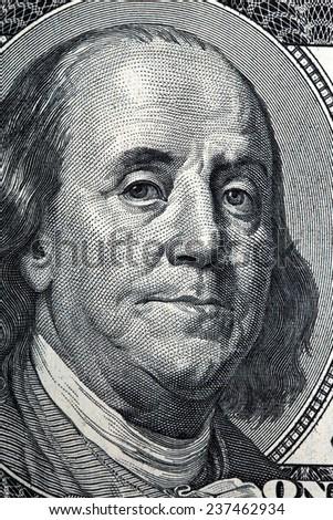 Benjamin Franklin, a portrait - stock photo