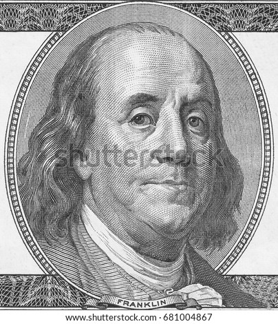 Benjamin Franklin - symbol of 100 dollars banknote