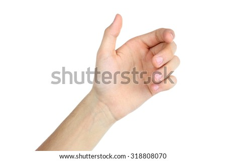 bent fingers hands on a white background - stock photo