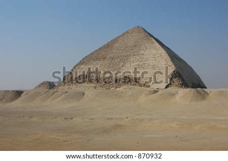 Bent Pyramid of Snofru in Dahshur near Cairo, Egypt