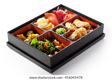 Bento Lunch - Sushi, Salad and Meal