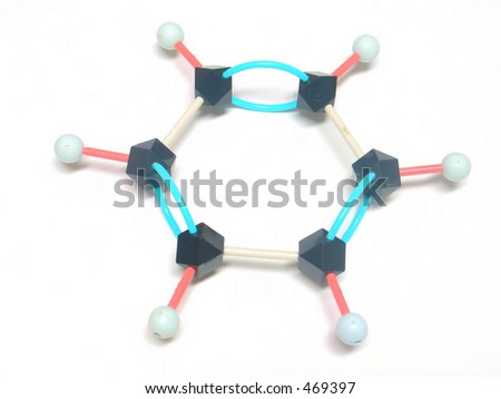 benzene structure - stock photo