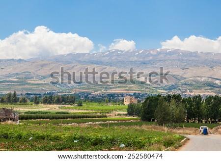 Beqaa (Bekaa) Valley, Baalbeck, Lebanon - stock photo