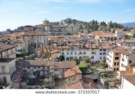 Bergamo, Italy, March, 14, 2013, Views of ancient city Bergamo
