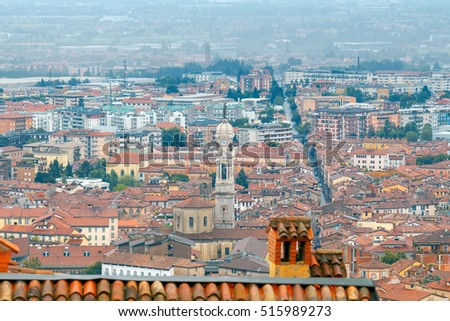 Bergamo. View of the old town.