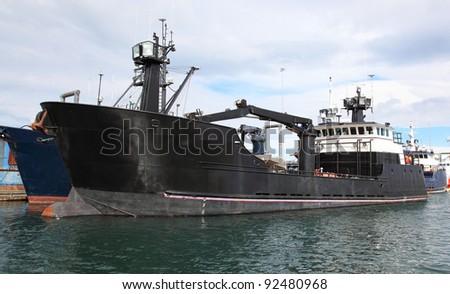 Bering Sea Crab Boat - stock photo