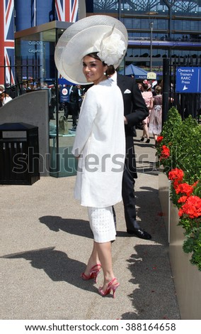 BERKSHIRE - JUN 17, 2015: Samantha Barks attends Royal Ascot day two on Jun 17, 2015 in Berkshire - stock photo