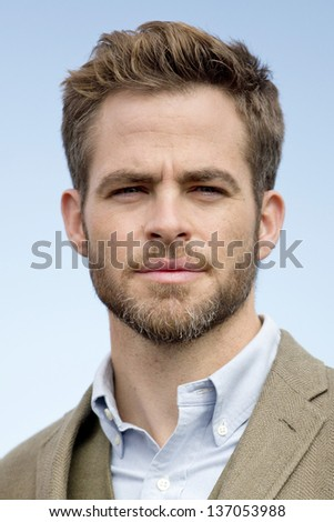 BERLIN - APR 28: Chris Pine at the Star Trek - Into Darkness Photo Call on April 28, 2013 in Berlin, Germany - stock photo