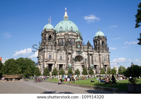 BERLIN - AUGUST 6: Berliner Dom,or Berlin Cathedral on August 6, 2012. It was built between 1895 and 1905. The current building replaced in 1894.