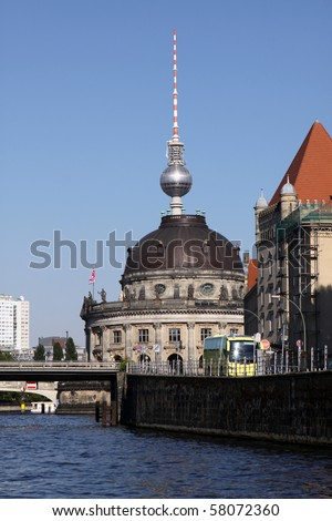 Berlin - Bode Museum and TV Tower - stock photo
