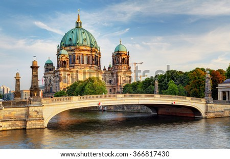 Berlin cathedral, Berliner Dom - stock photo