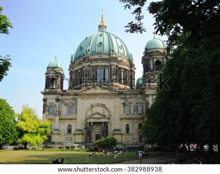 Berlin Cathedral Church - stock photo