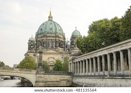 Berlin Cathedral church called Berliner Dom - BERLIN / GERMANY - AUGUST  31, 2016