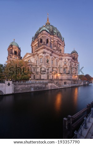Berlin cathedral in the early morning - stock photo