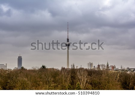 Berlin cityscape, Germany.