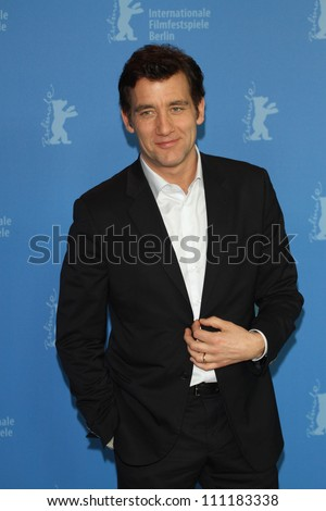 BERLIN - FEBRUARY 12: Actor Clive Owen attends the 'Shadow Dancer' Photocall during the 62nd Berlin International Film Festival at the Grand Hyatt on February 12, 2012 in Berlin, Germany. - stock photo