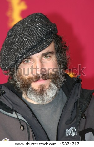 BERLIN - FEBRUARY 15: Actor Daniel Day-Lewis poses at the 'The Ballad Of Jack & Rose' Photocall during the 55th annual Berlinale International Film Festival on February 15, 2005 in Berlin, Germany - stock photo
