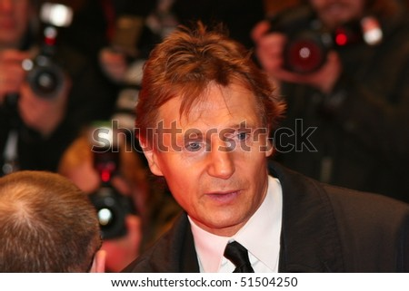 BERLIN - FEBRUARY 19: Actor Liam Neeson on stage at the 'Golden Bear' award ceremony during the 55th annual Berlinale International Film Festival on February 19, 2005 in Berlin, Germany. - stock photo