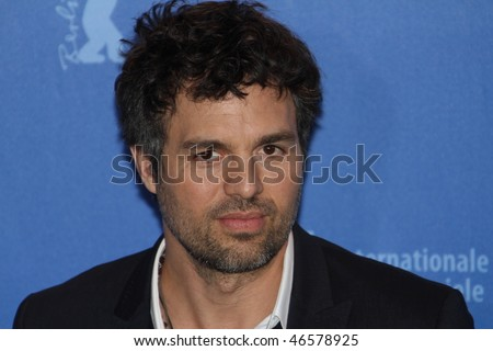 BERLIN - FEBRUARY 13: Actor Mark Ruffalo attends the 'Shutter Island' Photocall during day three of the 60th Berlin  Film Festival at the Grand Hyatt Hotel on February 13, 2010 in Berlin, Germany. - stock photo