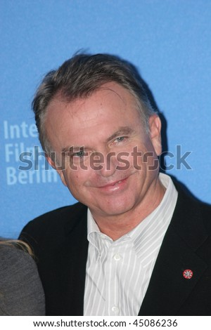 BERLIN - FEBRUARY 17: Actor Sam Neill attends a photocall to promote the movie 'Angel' during the 57th Berlin International Film Festival (Berlinale) on February 17, 2007 in Berlin, Germany - stock photo