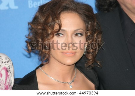 BERLIN - FEBRUARY 15: Actress Jennifer Lopez attends a press conference to promote the movie 'Bordertown' during the 57th Berlin  Film Festival  on February 15, 2007 in Berlin, Germany - stock photo
