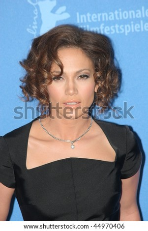 BERLIN - FEBRUARY 15: Actress Jennifer Lopez attends a press conference to promote the movie 'Bordertown' during the 57th Berlin International Film Festival  on February 15, 2007 in Berlin, Germany - stock photo
