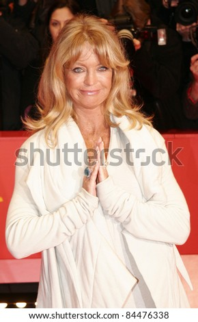 BERLIN - FEBRUARY 10: Goldie Hawn attends the 'Elegy' Premiere at the 58th Berlinale Film Festival at the Berlinale Palast on February 10, 2008 in Berlin, Germany. - stock photo
