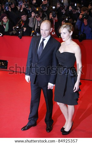 BERLIN - FEBRUARY 06: Ralph Fiennes and Kate Winslet attend the premiere for 'The Reader' at the 59th Berlin Film Festival at the Berlinale Palast on February 6, 2009 in Berlin, Germany.