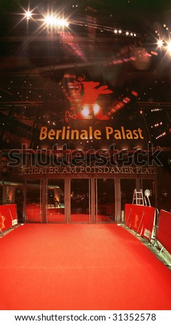 "BERLIN - FEBRUARY 18 : The ""Berlinale Palace"" at the Marlene-Dietrich-Platz on the day of the opening of the ""Berlinale"" film fest February 18, 2006 in Berlin."