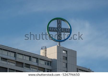 Berlin Germany April 26 2016 Bayer Stock Photo Royalty Free