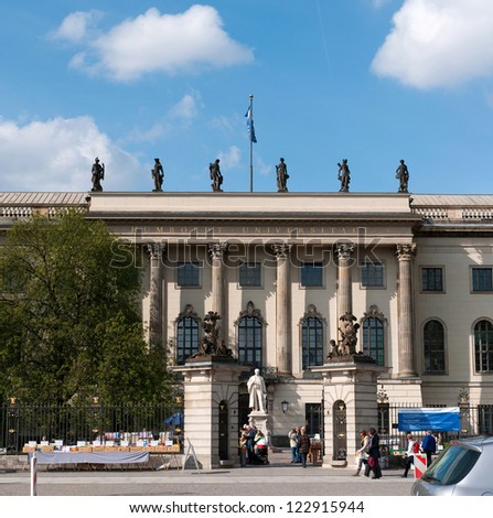 BERLIN, GERMANY - April, 14: The Humboldt University of Berlin on April 14, 2012.  It's the oldest Berlin`s university, founded in 1810 as the University of Berlin