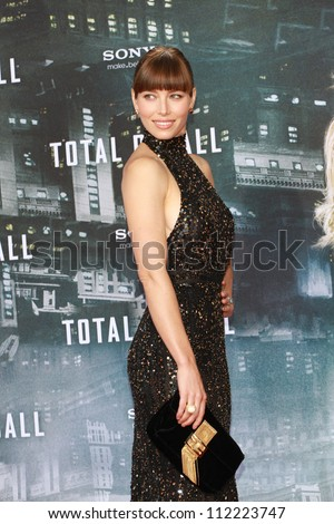 BERLIN, GERMANY - AUGUST 13: Jessica Biel attends the German premiere of 'Total Recall' at Sony Center on August 13, 2012 in Berlin, Germany