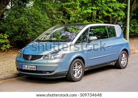 BERLIN, GERMANY - AUGUST 15, 2014: Motor car Renault Avantime at the city street. - stock photo