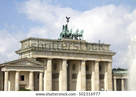 BERLIN, GERMANY - AUGUST 13, 2016: the Brandenburg Gate.