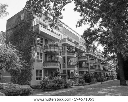 BERLIN, GERMANY - AUGUST 07, 2009: The Grosssiedlung Siemensstadt is a modernist housing estate in Berlin recognized by UNESCO as a World Heritage Site in 2008