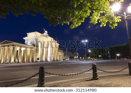 Berlin Germany Brandenburger Tor - stock photo