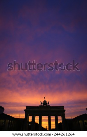 Berlin, Germany. Brandenburger Tor, Pariser Platz - stock photo