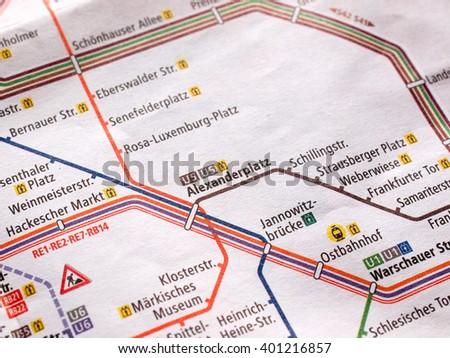 Berlin Map Stock Images RoyaltyFree Images Vectors Shutterstock - Germany underground map