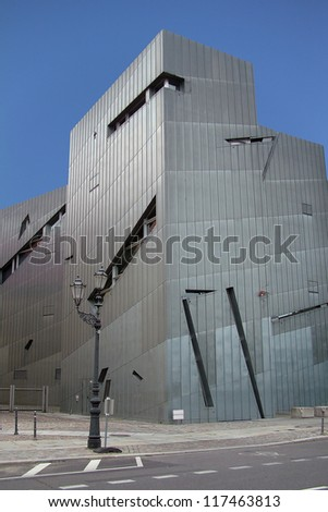 BERLIN, GERMANY - CIRCA AUGUST: 10 years of the Jewish Museum Berlin which was designed by Daniel Libeskind and opened in 2001  circa August 2011 in Berlin, Germany
