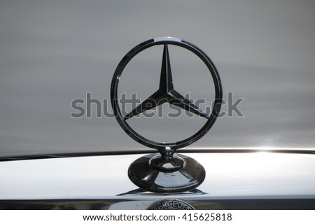 BERLIN, GERMANY - CIRCA MARCH 2016: Mercedes-Benz logo - stock photo
