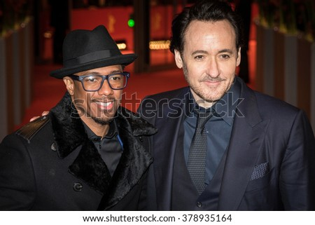 Berlin, Germany - February 16, 2016  - Actors Nick Cannon and John Cusack attend the 'Chi-Raq' premiere during the 66th Berlinale International Film Festival