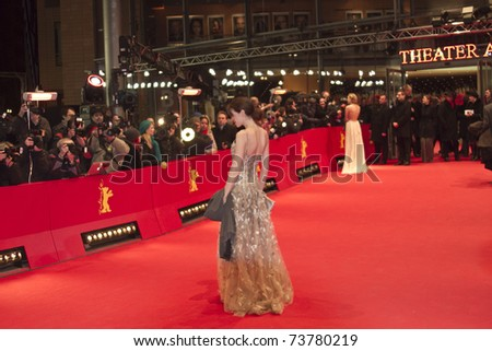 BERLIN, GERMANY - FEBRUARY 19: Actress Julia Malik attends the Award Ceremony during day ten of the 61st Berlin Film Festival at the Berlinale Palace on February 19, 2011 in Berlin, Germany. - stock photo